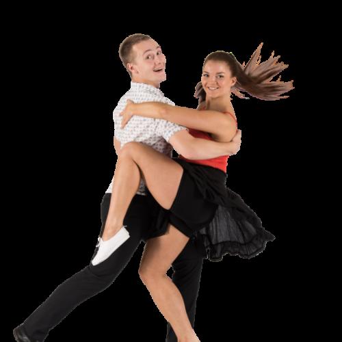 Mies ja nainen tanssii foksia